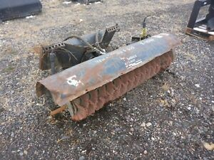 Bobcat 60 In Hydraulic Skid Steer Broom Attachment Sweeper stock 2279