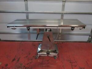 Shor line Veterinary Surgical Table Hydraulic W Heated V top 19 W X 58 L