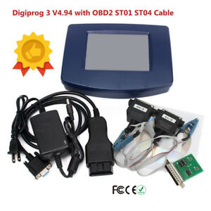 Digiprog 3 V4 94 Digiprog Iii Odometer Correction Tool With Obd2 St01 St04 Cable