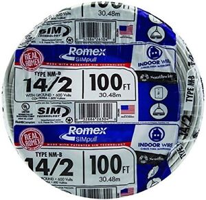 Southwire 28827423 100 14 2 With Ground Romex Brand Simpull Residential Indoor