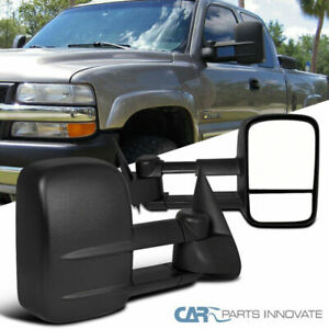 For 99 07 Chevy Silverado Gmc Sierra Pickup Manual Extending Towing Mirrors