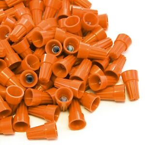 5000 Pcs Orange Screw On Wire Electrical Connectors Twist on Easy Screw Pack