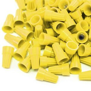2500 Pcs Yellow Screw On Wire Electrical Connectors Twist on Easy Screw Pack