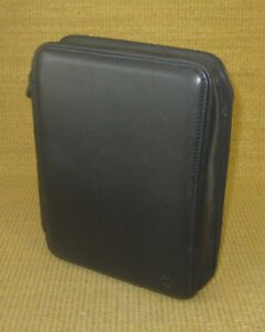 Classic 1 125 Rings Black Leather Deluxe Franklin Covey Zip Planner binder