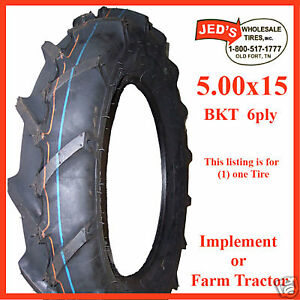 500 15 R 1 Farm Lug Mower Tractor Ag Bkt Demolition Derby Tire 5 00 15 500x15