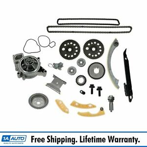Timing Chain Water Pump Sprocket Set Kit For Chevy Olds Pontiac Saturn New