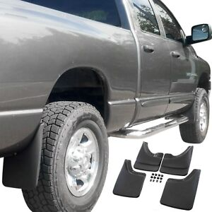 Fits Dodge Ram Mud Flaps 02 08 Mud Guards Splash W o Flares 4 Piece Front Rear