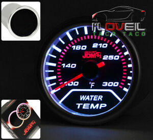 Universal 2 Water Temperature Electric Gauge Indicator Fahrenheit Led Smoke Len