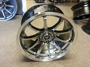 17 Inch G Line 1018 Wheel Rims Tires Hyper Black 5 X 114 3