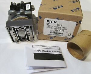 New Eaton E30em Compact Pushbutton Operator Switch W Light 120v Ac dc Series A4