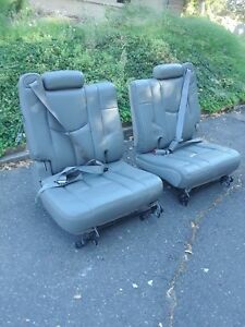 2005 Chevy Tahoe Suburban Leather Seat Gray Rear Seats