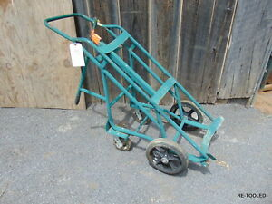 Anthony Large Liquid Cylinder Rolling Cart Hand Truck Used 5 Portable Cart