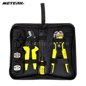 Meterk 4 In 1 Wire Crimpers Ratcheting Terminal Pliers Cord End Terminals Tool