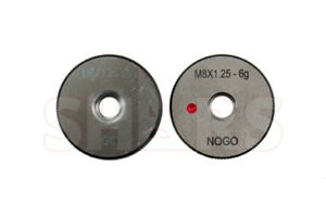 Shars M8 X 1 25 Go No go Thread Ring Gage 2pcs Set New