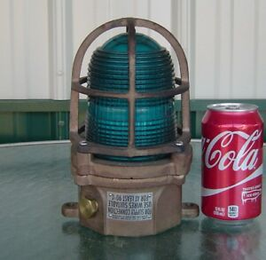 Beautiful Teal Blue Vintage Ship S Helicopter Pad Nautical Ceiling Deck Light