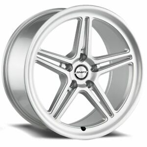 Shift Racing Intake Silver 18 Inch Wheels Rims Tires Fit 5 X 114 3