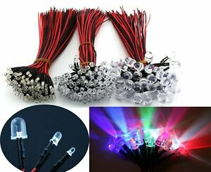 Wholesale Dc 9 12v 3mm 5mm 10mm Pre Wired Emitting Diodes Led Bulbs White Light