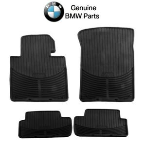 For Bmw E46 3 Series Set Of Front Rear Black Rubber All Weather Floor Mats Oes