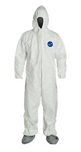 Dupont Tyvek 400 Ty122s Disposable Coverall White 2x large pack Of 6