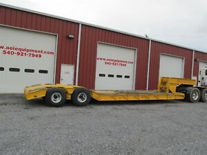 1970 Rogers 35 Ton Lowboy Rgn Trailer 19ft T a Hydraulic Ground Bearing Cheap