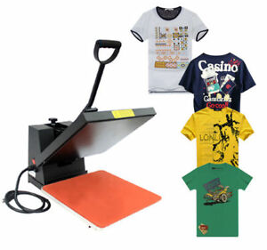 Homcom 15 X 15 Digital Heat Transfer Press Machine Heatpress Print Shirt Black