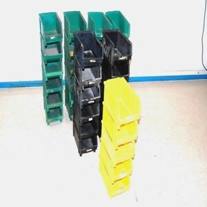 lot Of 41 Lewis Systems Pb 4 Plastic Part Stack Hang Container Storage Bins