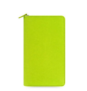 Green Filofax Saffiano Compact Zip Organiser Planner Diary Pear Leather 022537