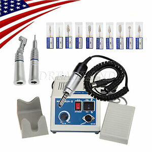 Dental Lab Marathon 35k Rpm Handpiece Electric Micro Motor Drills Burs Usa iiui