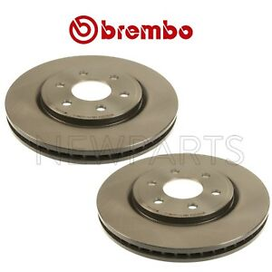 For Pair Set Of 2 Front 296mm Coated Vented Disc Brake Rotors Brembo For Nissan