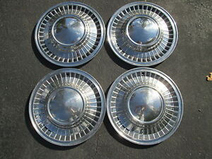 1961 Ford Galaxie 14 Inch Hubcaps Wheel Covers Factory