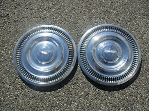 Lot Of 2 1963 Oldsmobile 98 Delta 88 14 Inch Hubcaps Wheel Covers