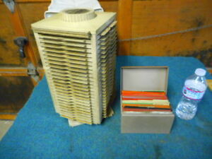 Vintage Lot Of Massey Ferguson Mf Tractors equipment Microfiche And Holder