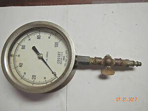 Crosby Chrome over Brass 5 Pressure Gauge Eb 200