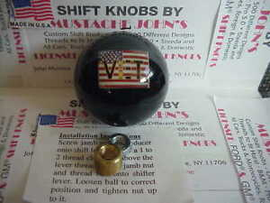 Vet American Flag Custom Shift Knob Car Truck Hot Rod Motorcycle Black