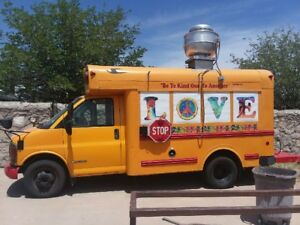 1997 Chevy Food Truck Share The Love And Fly Free In This Retro style Schoolbus