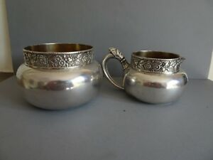 Gorham Co American 2 Piece Electroplated Tea Set Early 20th Century