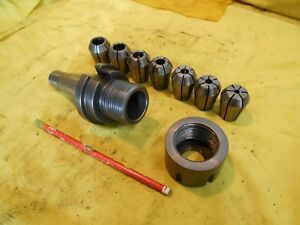 Nmtb 40 Collet Chuck Milling Machine Mill Tool Holder Arbor 7 Metric Collets
