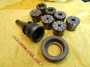 Nmtb 40 Collet Chuck Milling Machine Mill Tool Holder Arbor 7 Da500 Collets