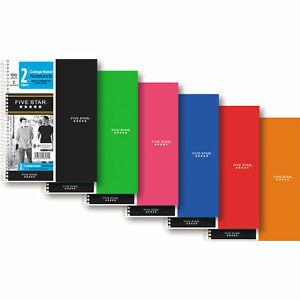 Mead Five Star 2 subject College Rule Notebook Assorted Color