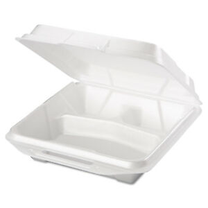 Genpak White Foam Food Containers 2 Packs Of 100 Containers