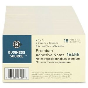Wholesale Size Lot Sticky Notes 3 X 5 Yellow 100 Sheets pad 1800 Pads
