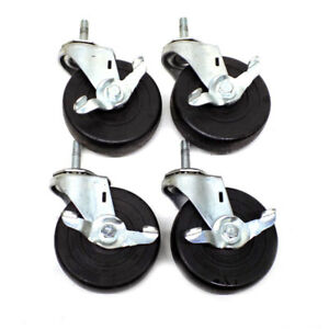 4 Wagner Casters 4 X 1 25 Industrial Swivel Locking Heavy Duty Galvanized