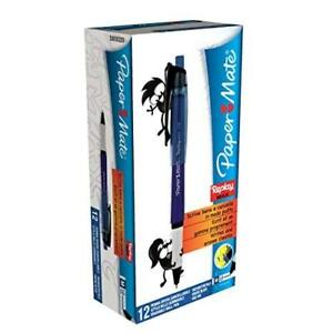 Paper Mate Replay Max Erasable Ball Pen Medium Tip 1 0mm Blue box Of 12
