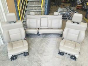 04 08 Ford F150 Crew Cab Front Driver Passenger Rear Bench Seat Tan Leather