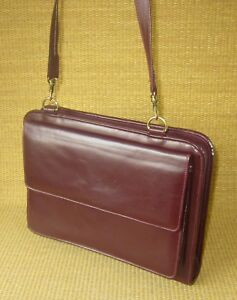 Classic 1 125 Rings Burgundy Leather Franklin Covey quest Planner binder Purse