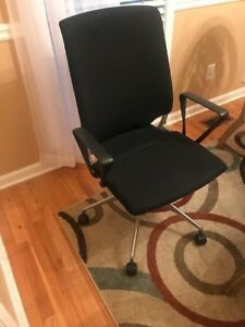 Vitra Meda Office Chair Cloth Black Gently Used
