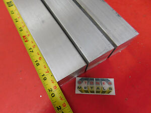 3 Pieces 1 1 2 X 1 1 2 Aluminum Square 6061 T6511 Solid Extruded Bar 20 Long