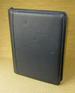 Monarch 1 25 Rings Black Nappa Leather Franklin Covey Zip Planner binder