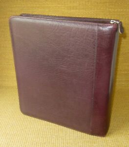 Monarch 1 75 Rings Burgundy Genuine Leather Franklin Covey Planner binder