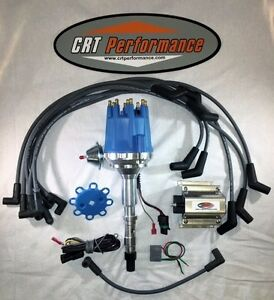 Small Cap Amc Jeep 290 304 343 360 390 401 Blue Hei Distributor Coil Wires